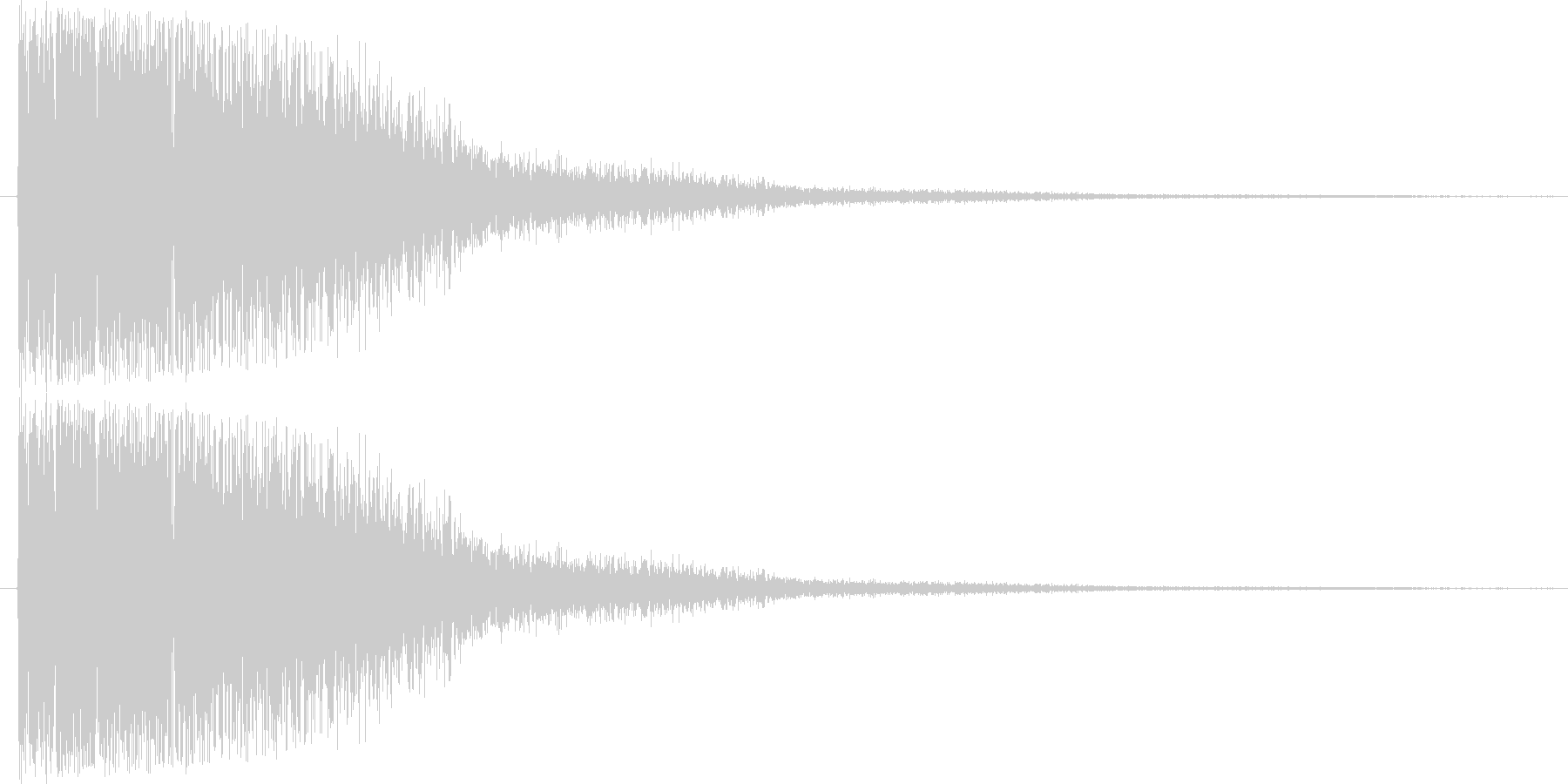 短い銅鑼の音1の未再生の波形
