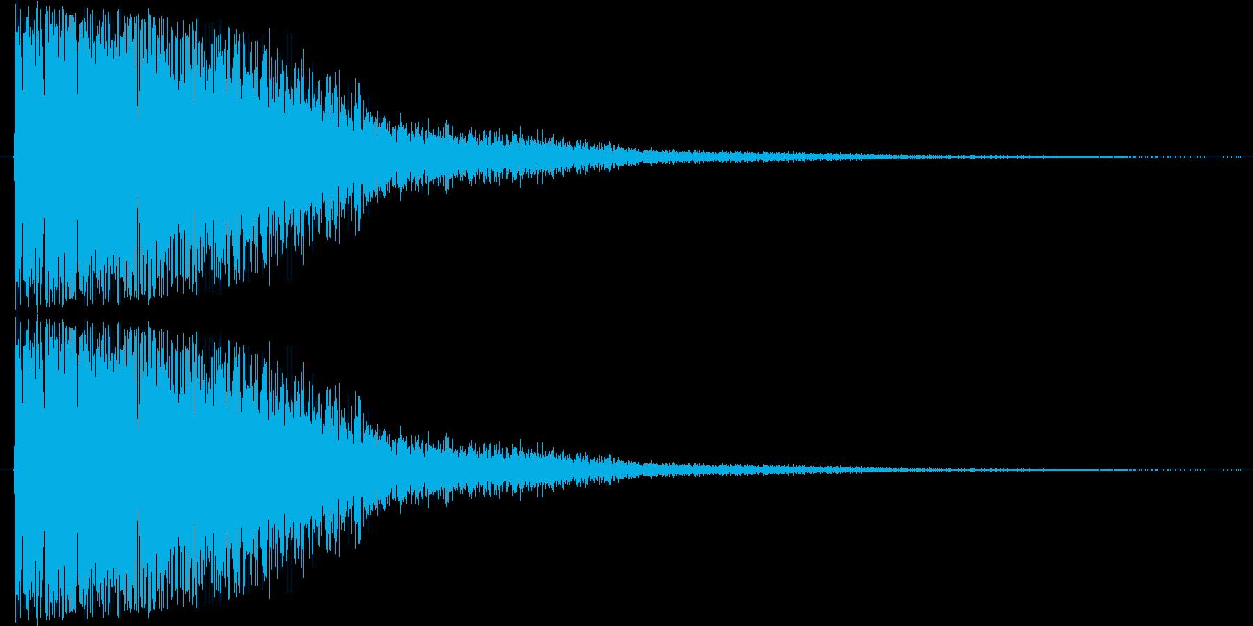 短い銅鑼の音1の再生済みの波形