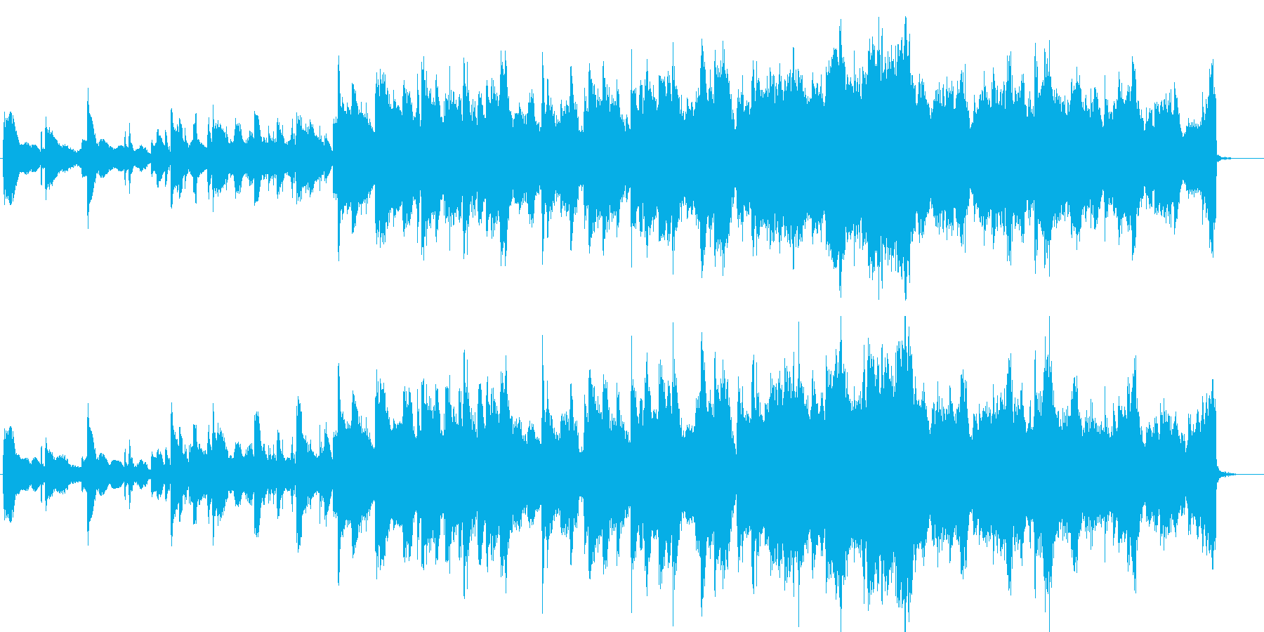 CMや映像向け、切な爽やか透明感ある曲の再生済みの波形