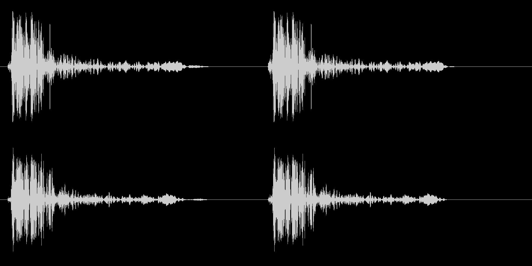 ドンドン(ドアノック2回)の未再生の波形