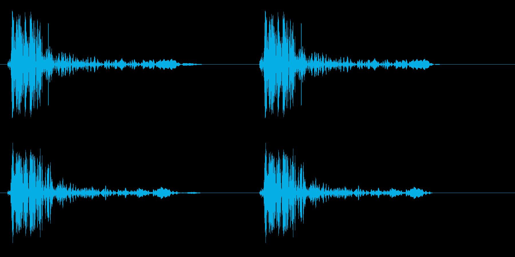 ドンドン(ドアノック2回)の再生済みの波形