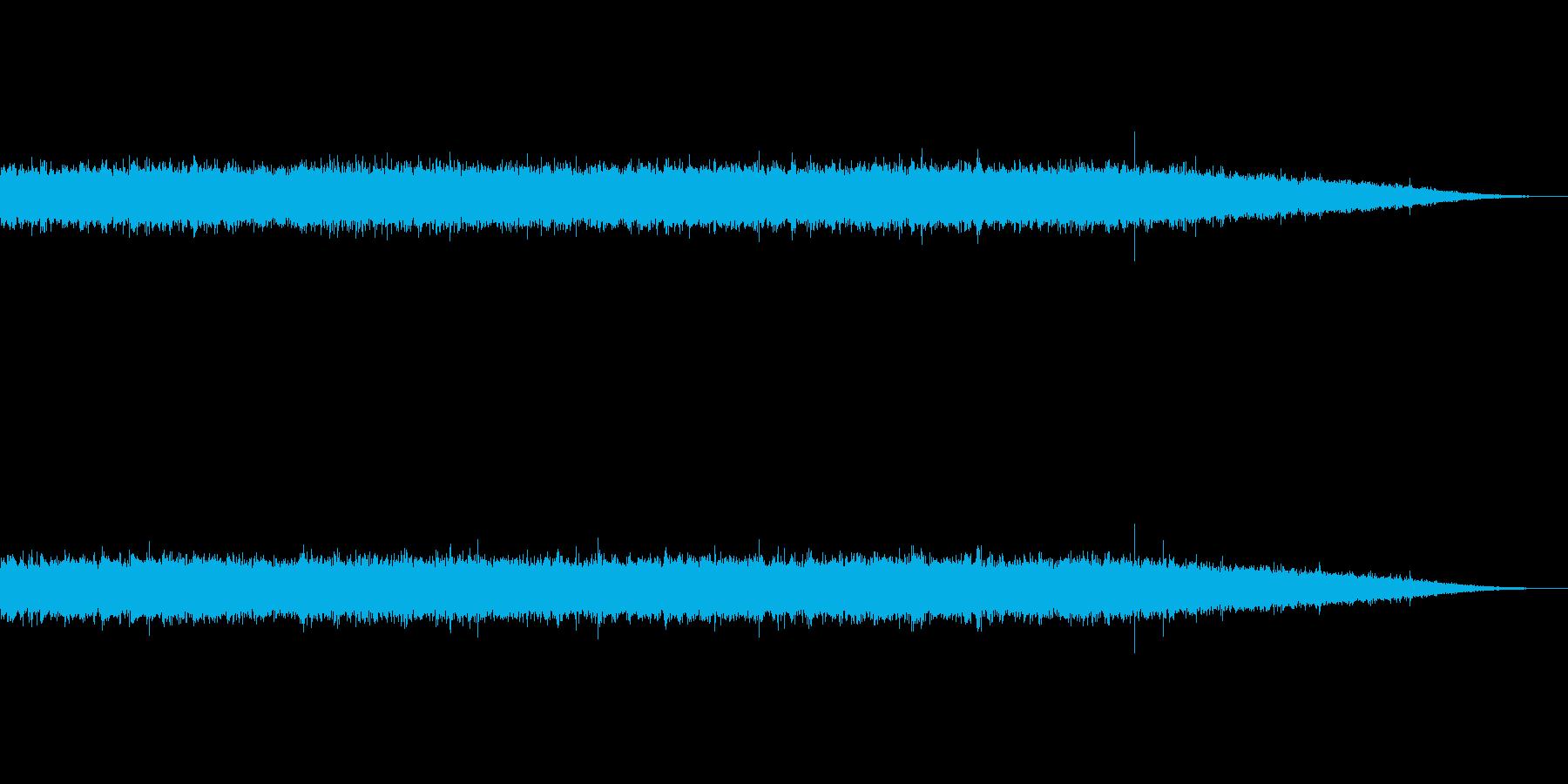 少し激しめの川の流れ(ザー!)の再生済みの波形
