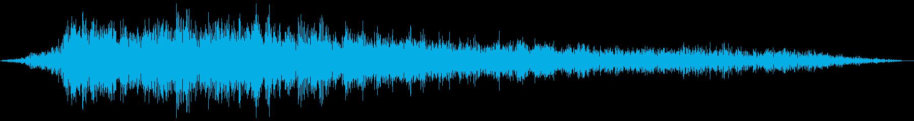車の急ブレーキ(キキーッ)の再生済みの波形
