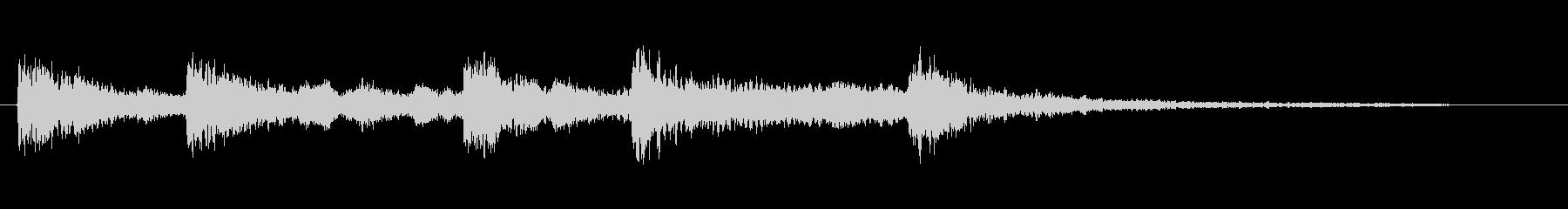 中国チャイナ風ジングル出囃子音の未再生の波形