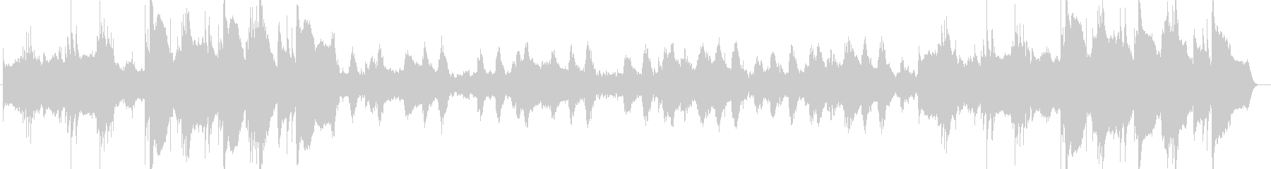 神秘的なヒーリングのピアノサウンド楽曲の未再生の波形