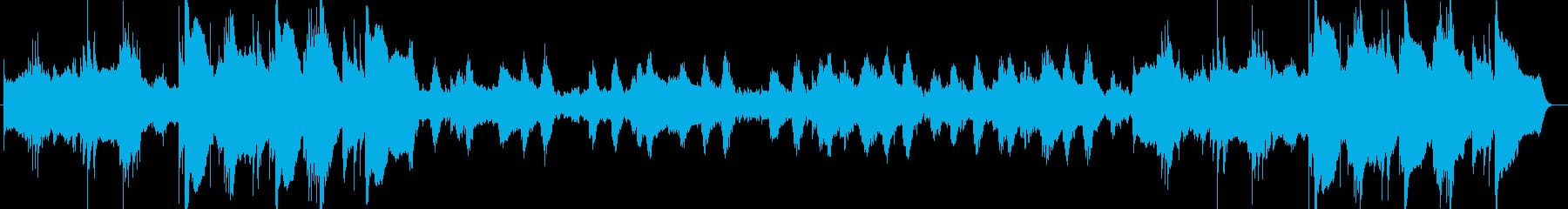 神秘的なヒーリングのピアノサウンド楽曲の再生済みの波形
