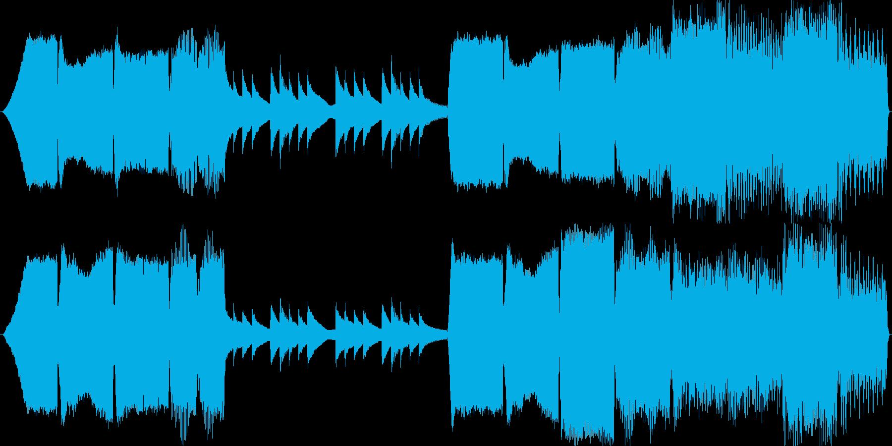 ミステリーホラー系ループ音源の再生済みの波形