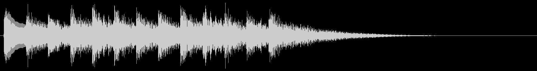 和風効果音 琴 場面転換 切り替えの未再生の波形