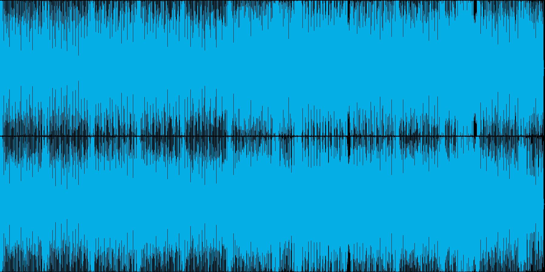 スクラッチが印象的なテクノポップの再生済みの波形