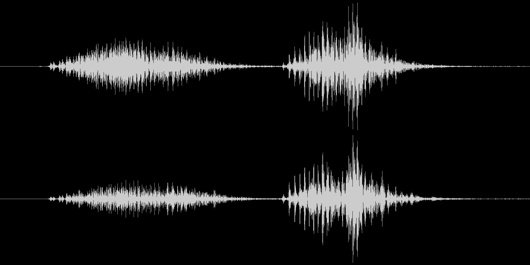 スマイルハンマー  ビヨッ(高め)の未再生の波形