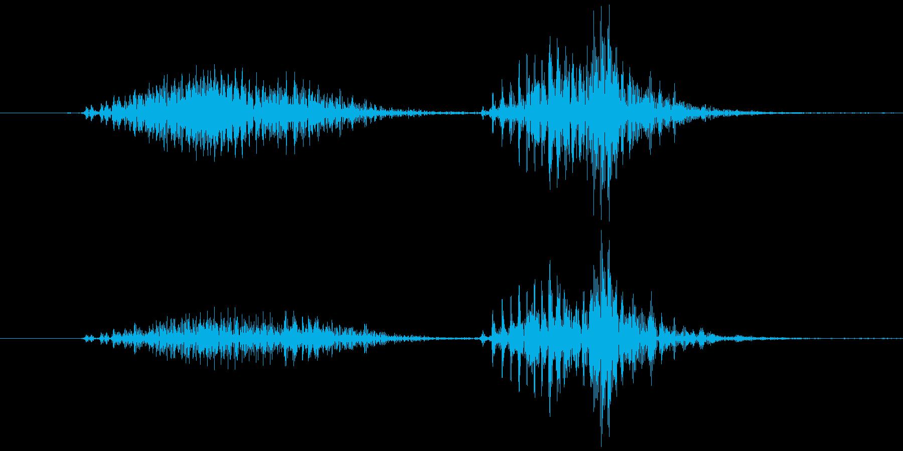 スマイルハンマー  ビヨッ(高め)の再生済みの波形