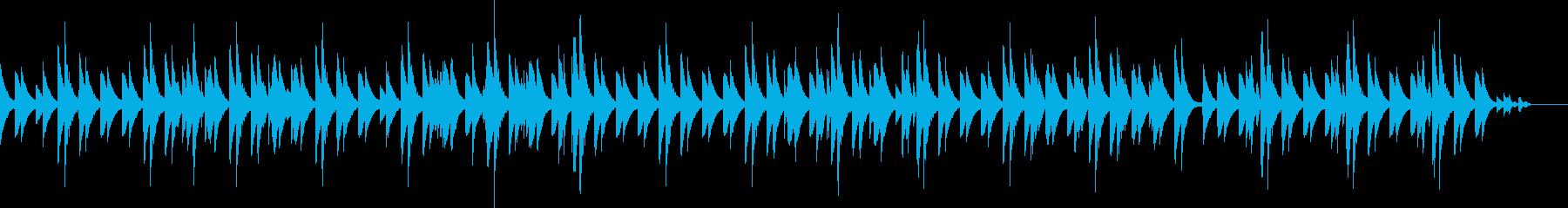 作業時に聞き流せる曲の再生済みの波形