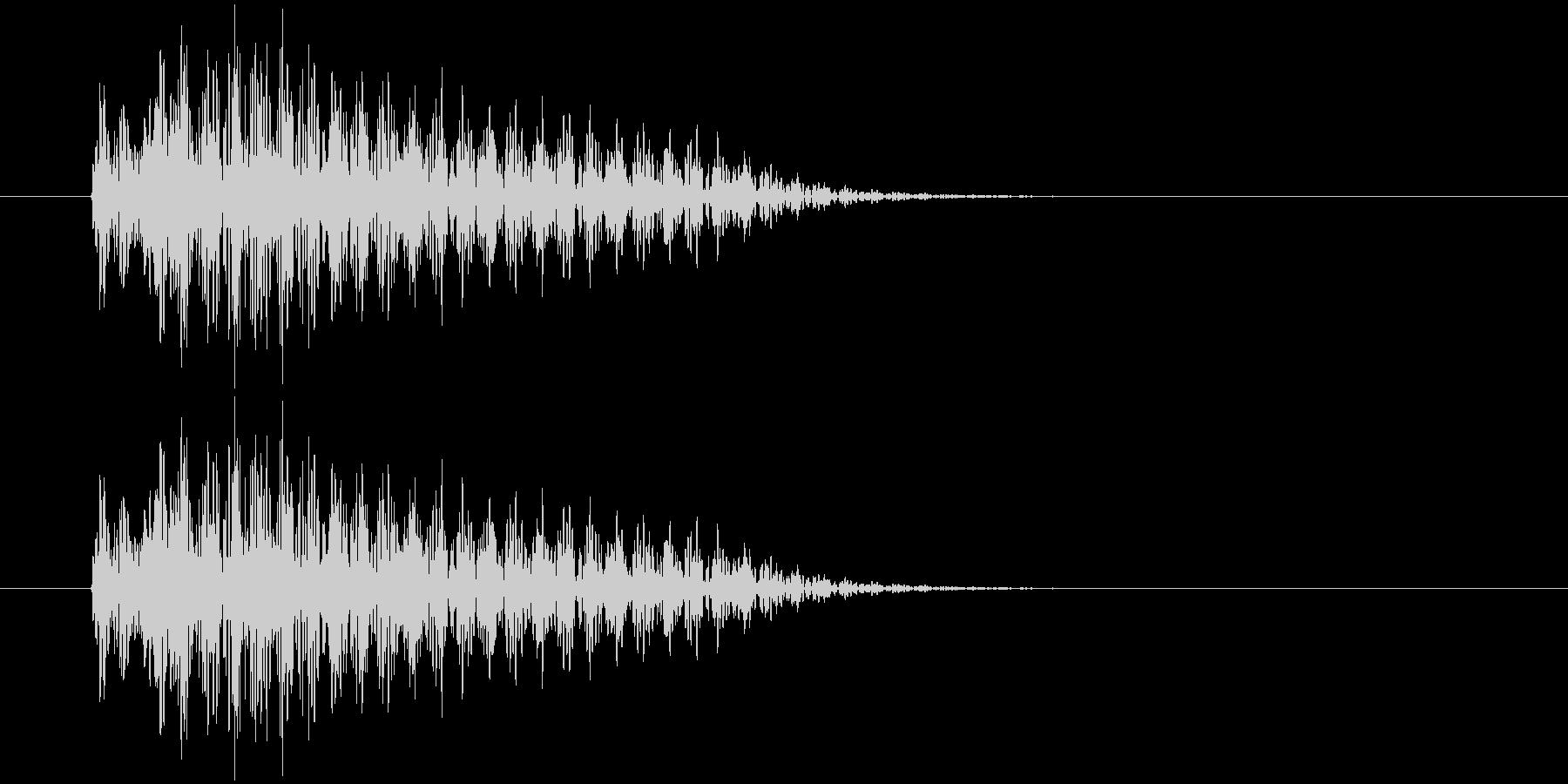 ポロン(決定、警告等)の未再生の波形