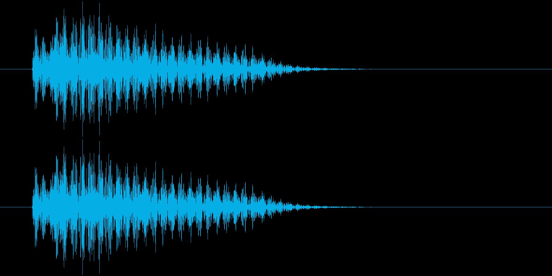 ポロン(決定、警告等)の再生済みの波形