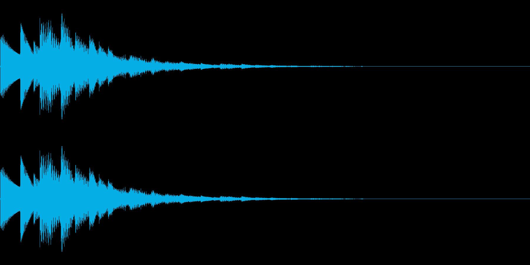 決定音/キラキラ/回復/星/セーブの再生済みの波形