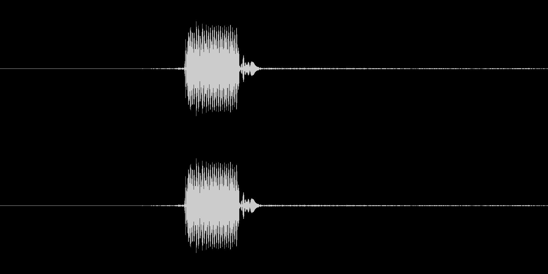 ゲームのカーソルを動かした時のSEです。の未再生の波形