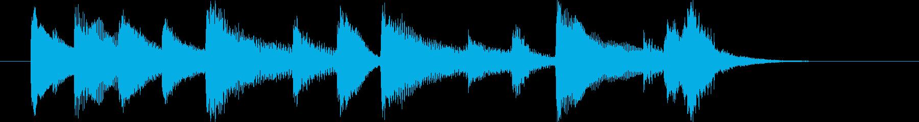 かわいい感じのジングル。キラキラ。の再生済みの波形