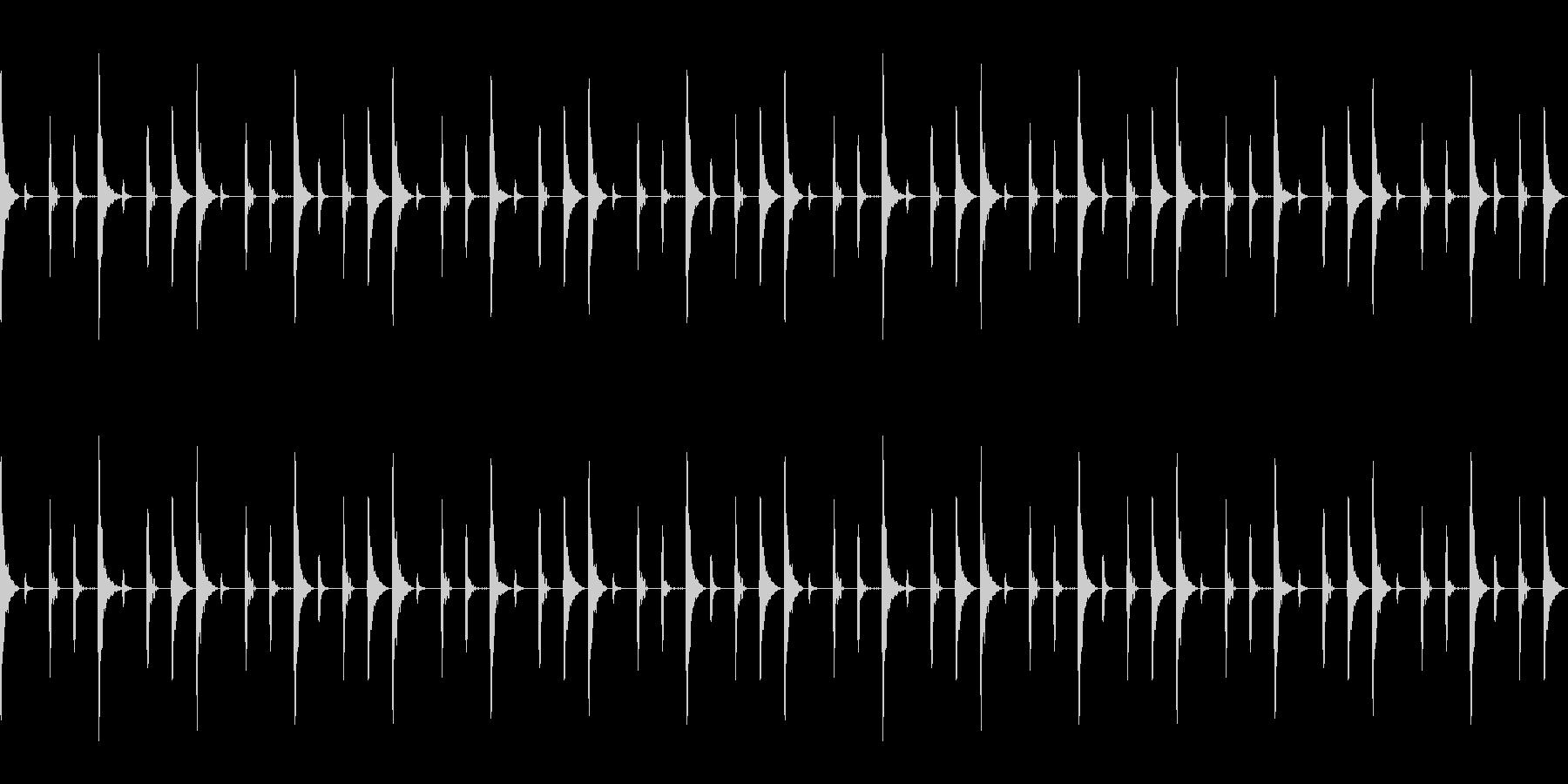ボサノバのベーシックリズムパターンの未再生の波形