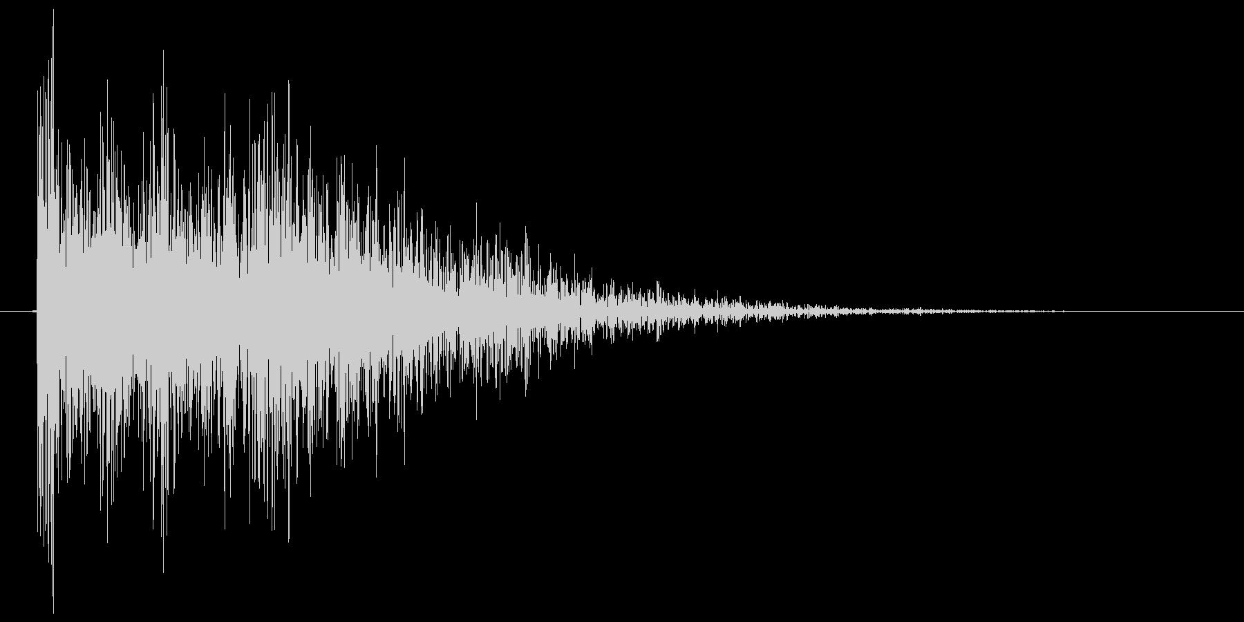 バーン(銃声、発砲、拳銃)の未再生の波形