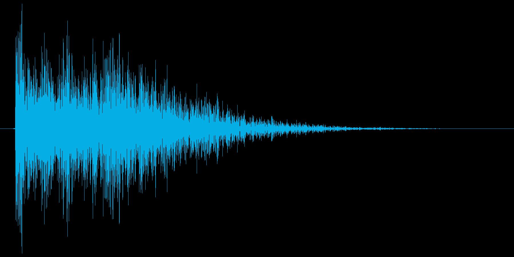 バーン(銃声、発砲、拳銃)の再生済みの波形