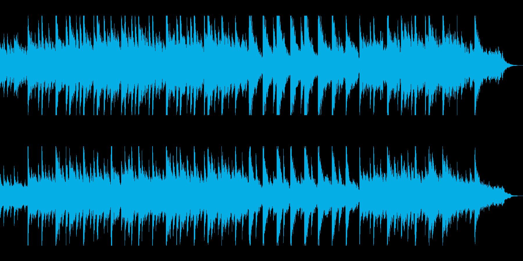 寂しく切ない雰囲気のピアノ調の再生済みの波形
