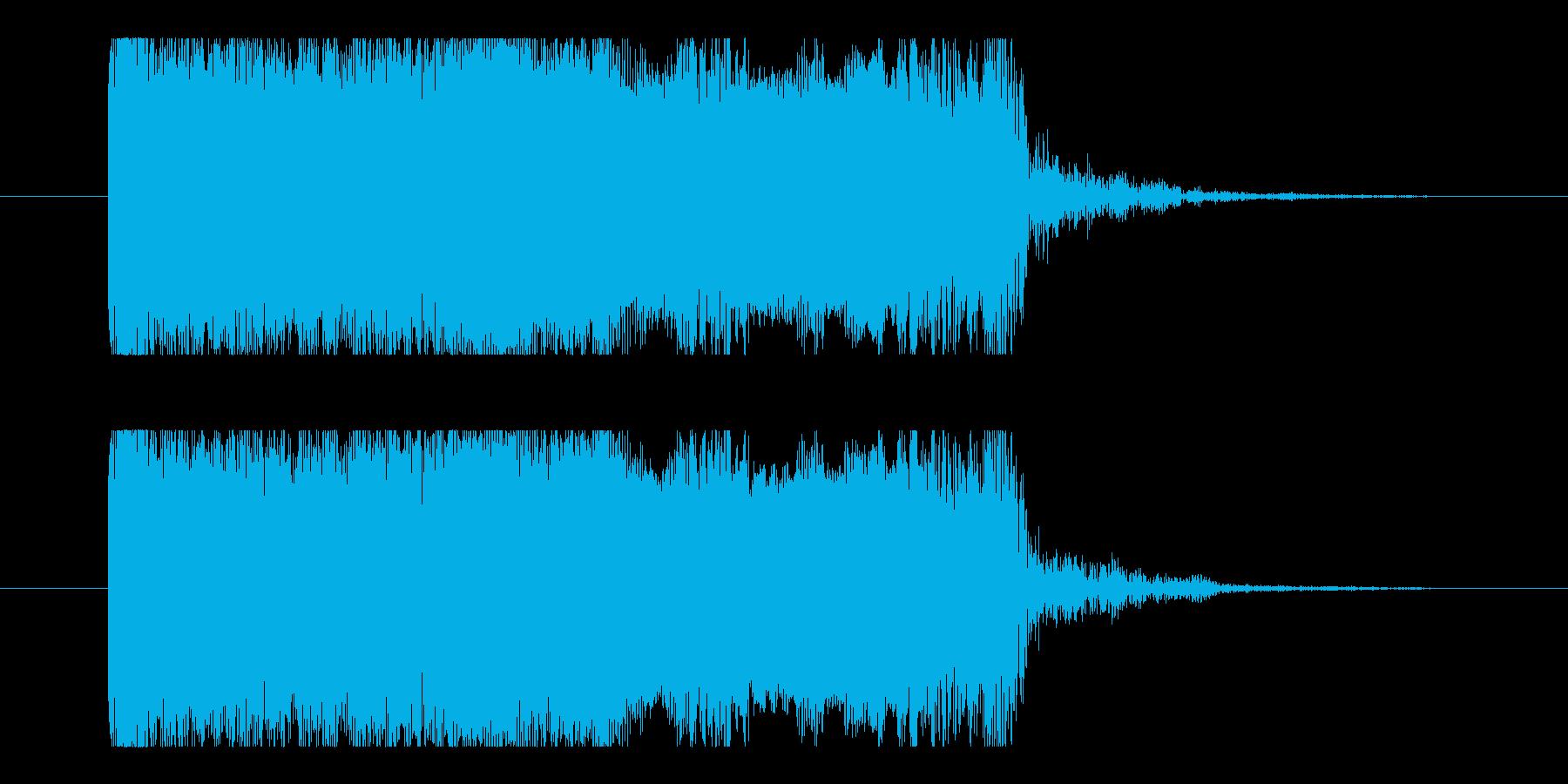 ユニゾンチョーキング2、Eギターサウンドの再生済みの波形