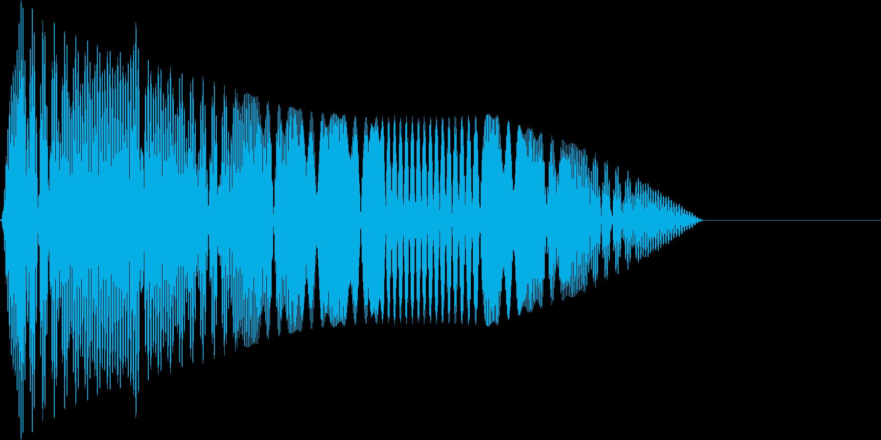 プヤウ(間抜けなイメージ)の再生済みの波形