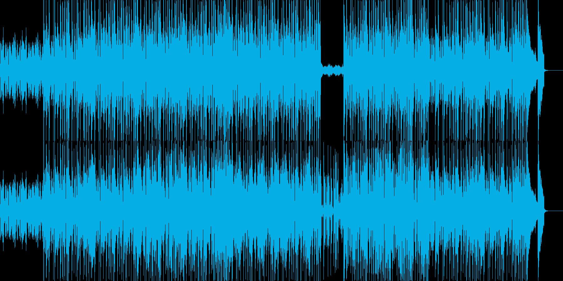 映像系似合いそうなロックブルースの再生済みの波形