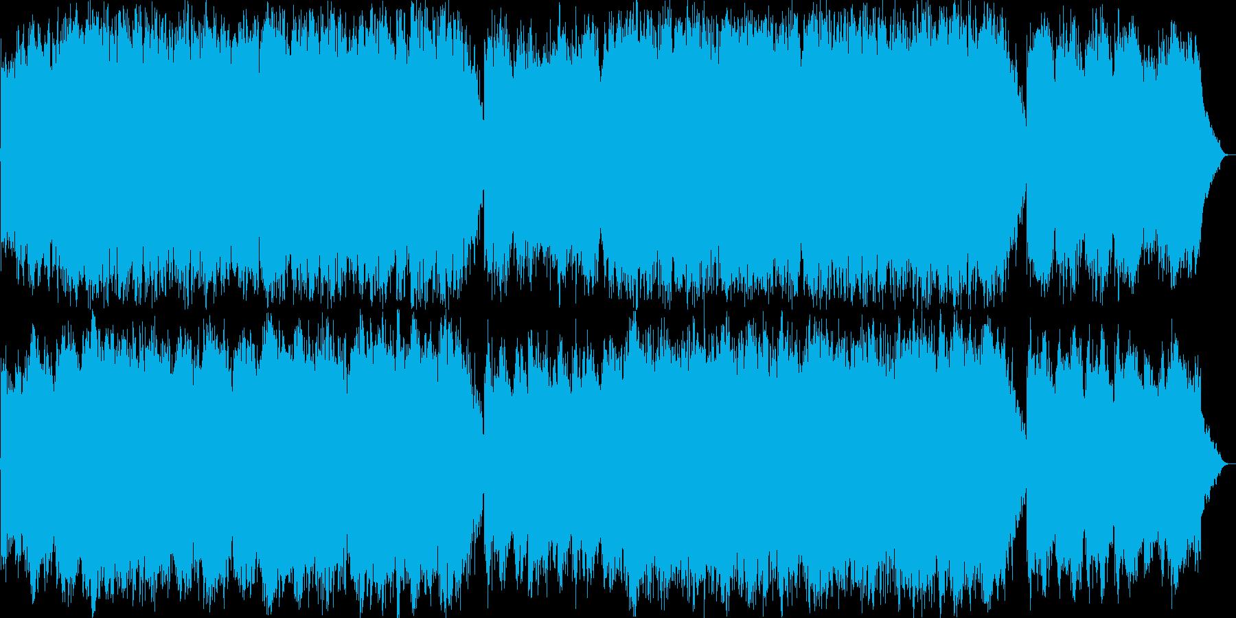 優しく優雅なピアノのイージーリスニングの再生済みの波形