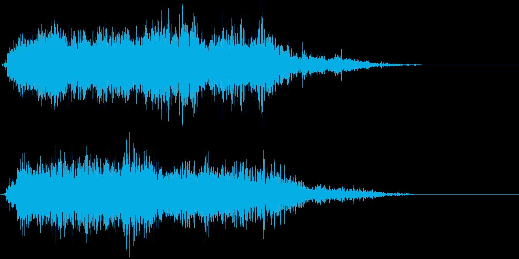 魔法07(防御・風・発動・飛ばす系)の再生済みの波形