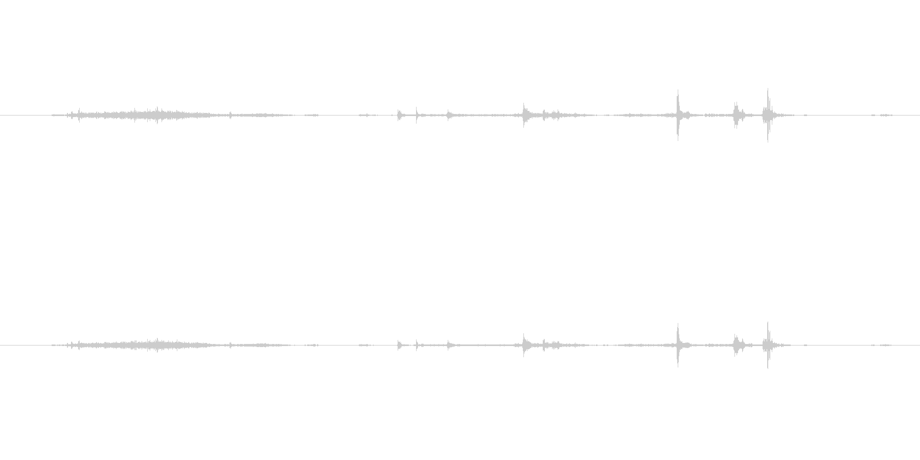 手紙などをめくる2の未再生の波形