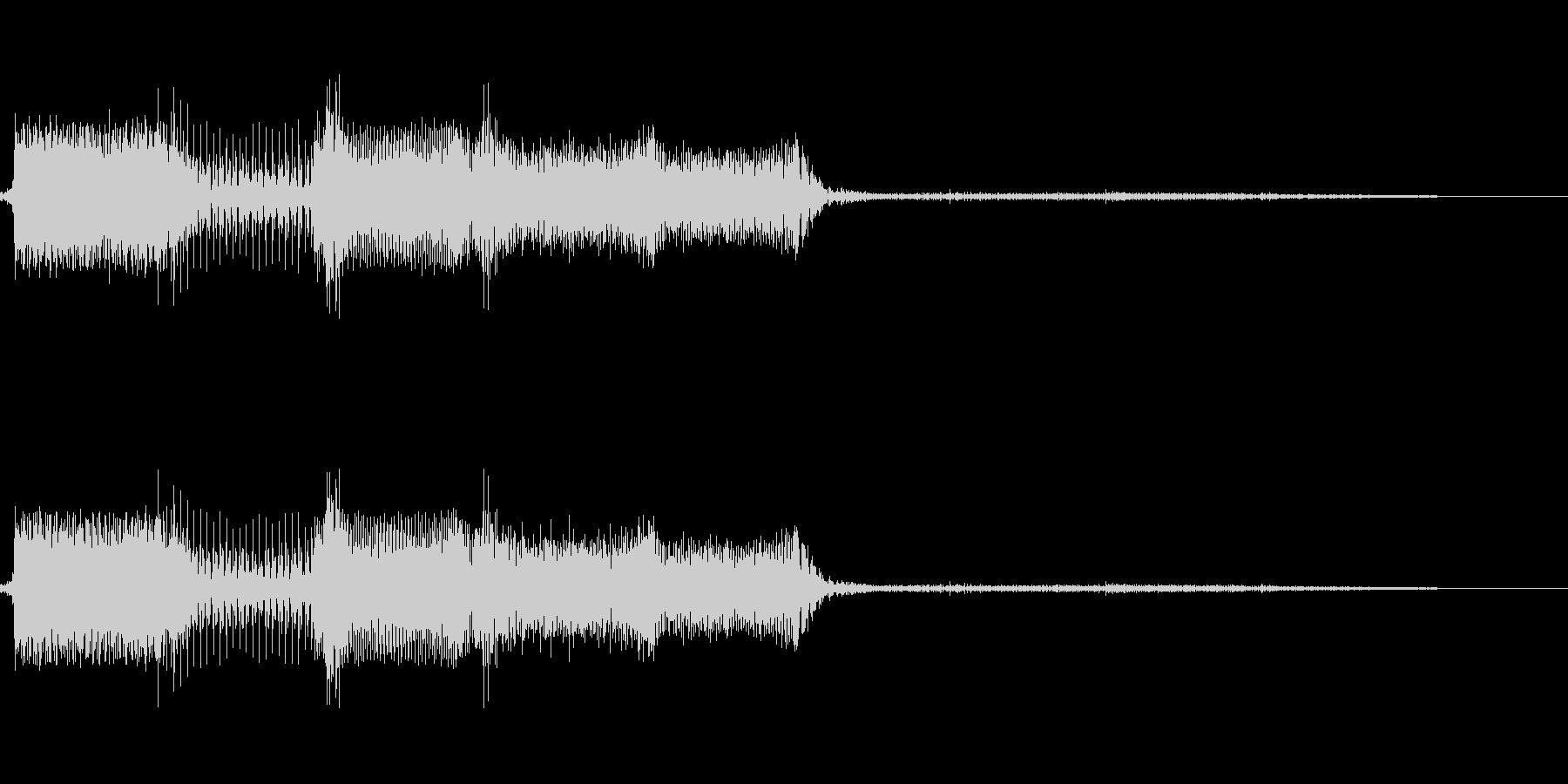 決定/ボタン押下音(メカニカルな音)の未再生の波形