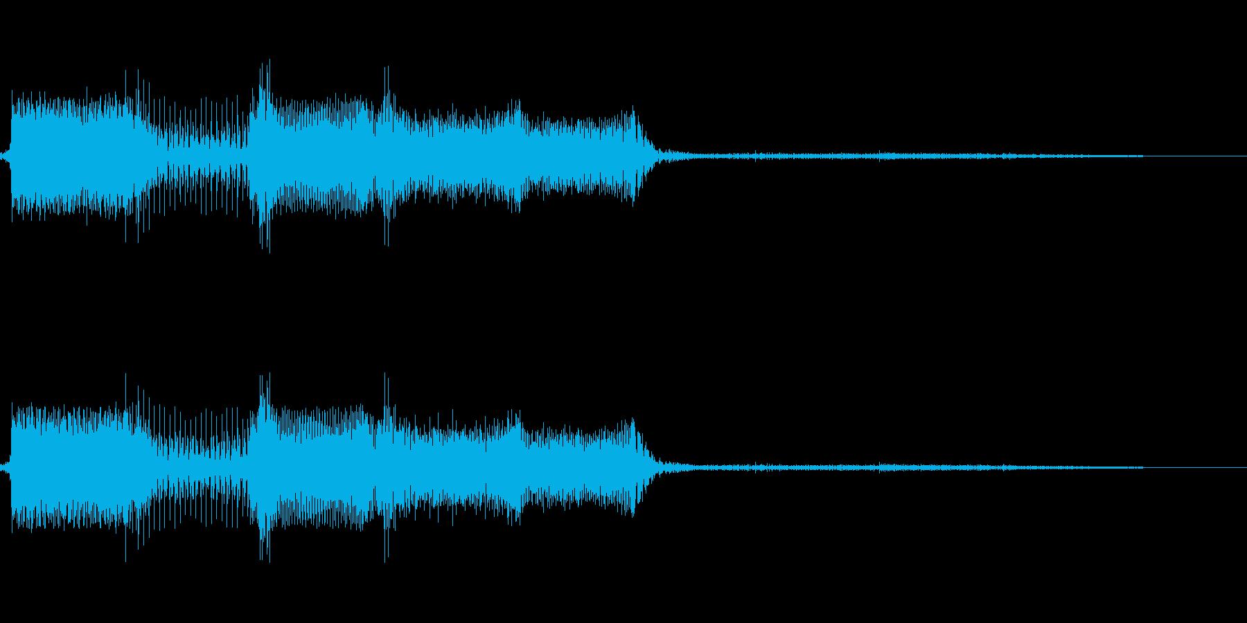 決定/ボタン押下音(メカニカルな音)の再生済みの波形