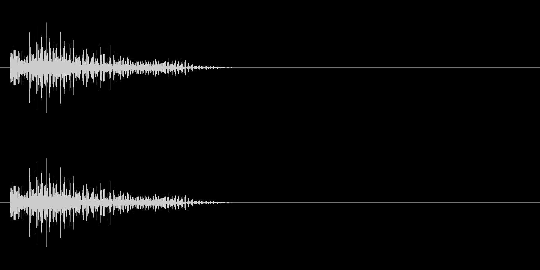 チープなロボットのジャンプ音の未再生の波形