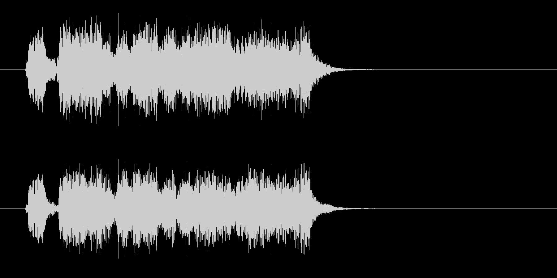 スピーディーで軽快なポップジングルの未再生の波形