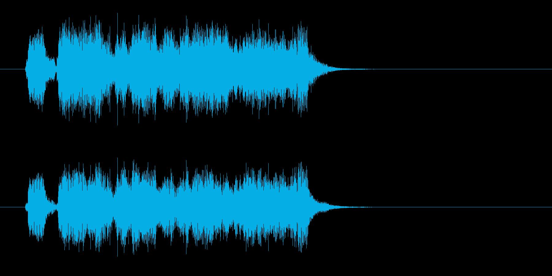 スピーディーで軽快なポップジングルの再生済みの波形