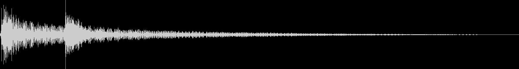 ココン(エラー、拒否、失敗、システム)の未再生の波形