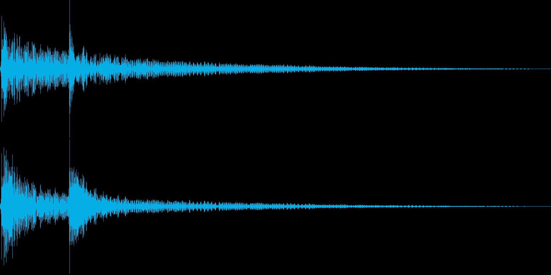 ココン(エラー、拒否、失敗、システム)の再生済みの波形
