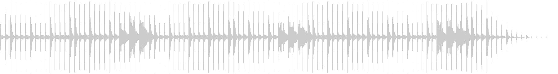 80年代風ドラムループの未再生の波形