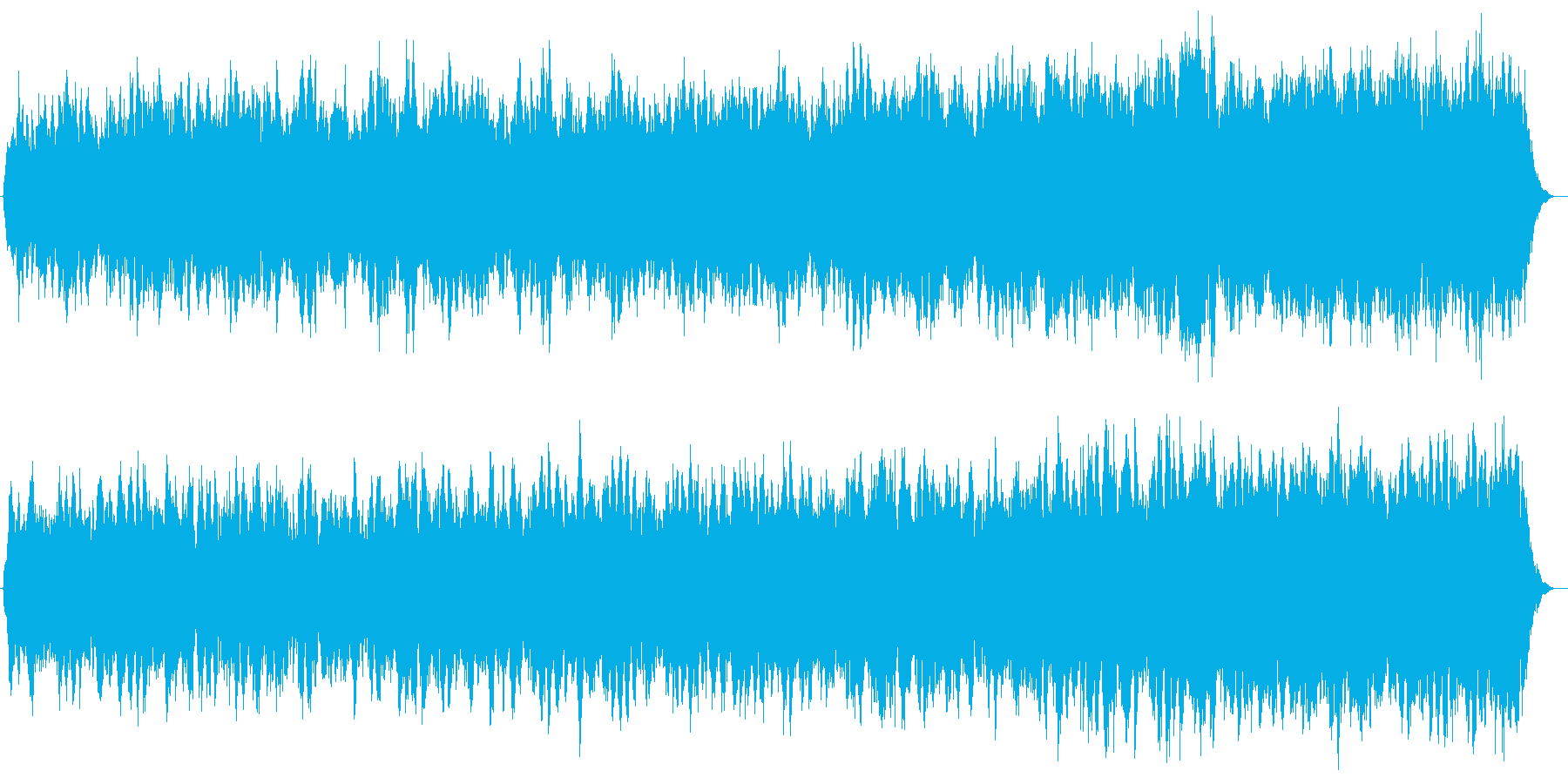 神秘的な印象のシンセサイザー楽曲の再生済みの波形
