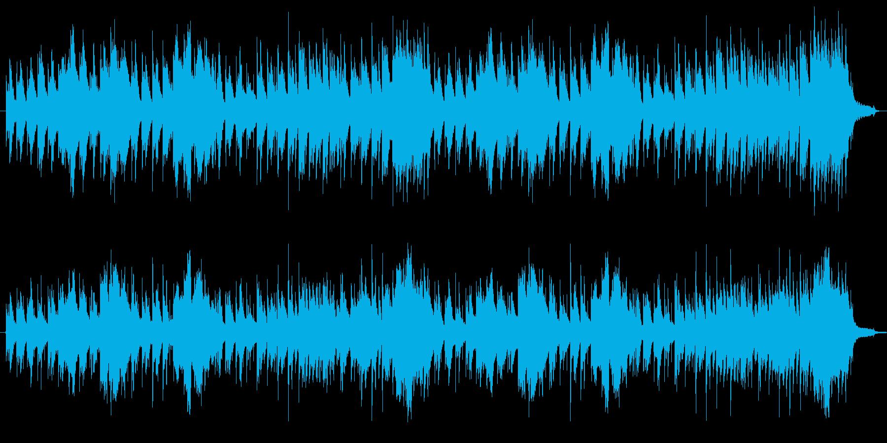 のんびりした3拍子のアコースティックの再生済みの波形