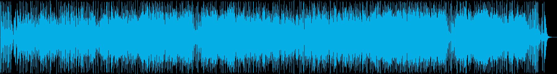 弾むように楽しげなボサノヴァ曲の再生済みの波形