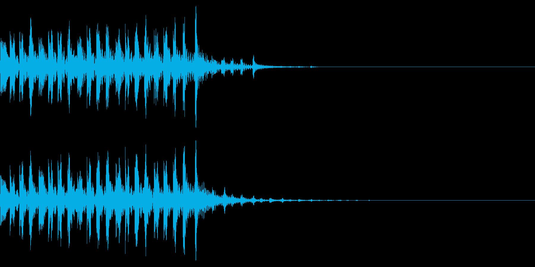 シンプルな効果音 不思議な時のシンセの再生済みの波形