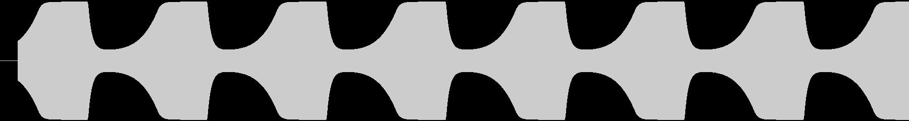 ゲームテキスト効果音A-2(短い)の未再生の波形