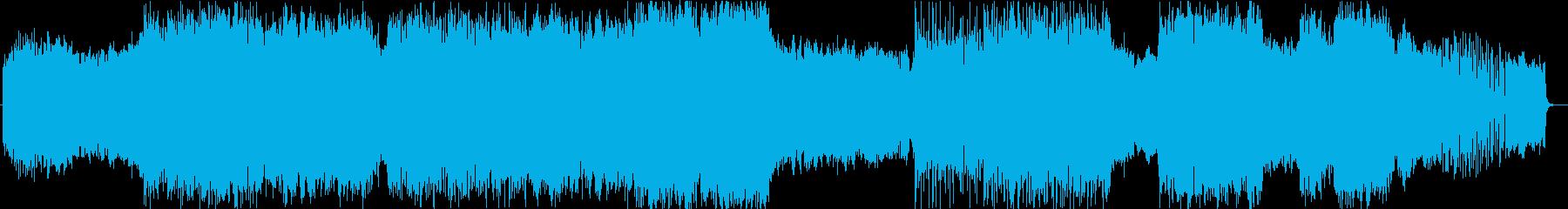 生々しいディストーションギターの曲の再生済みの波形