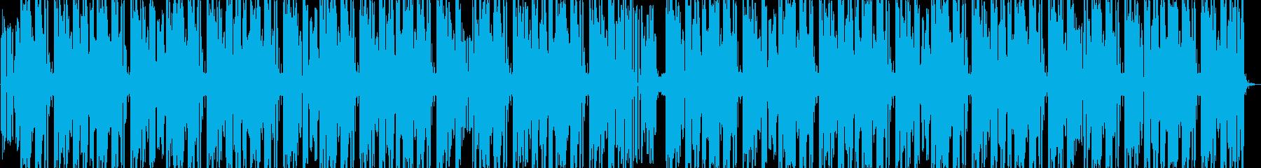 レトロゲーム戦闘風エレクトロダンスビートの再生済みの波形