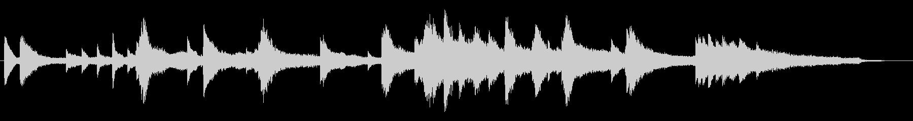 30秒CM/企業VP用。幻想的なピアノ曲の未再生の波形