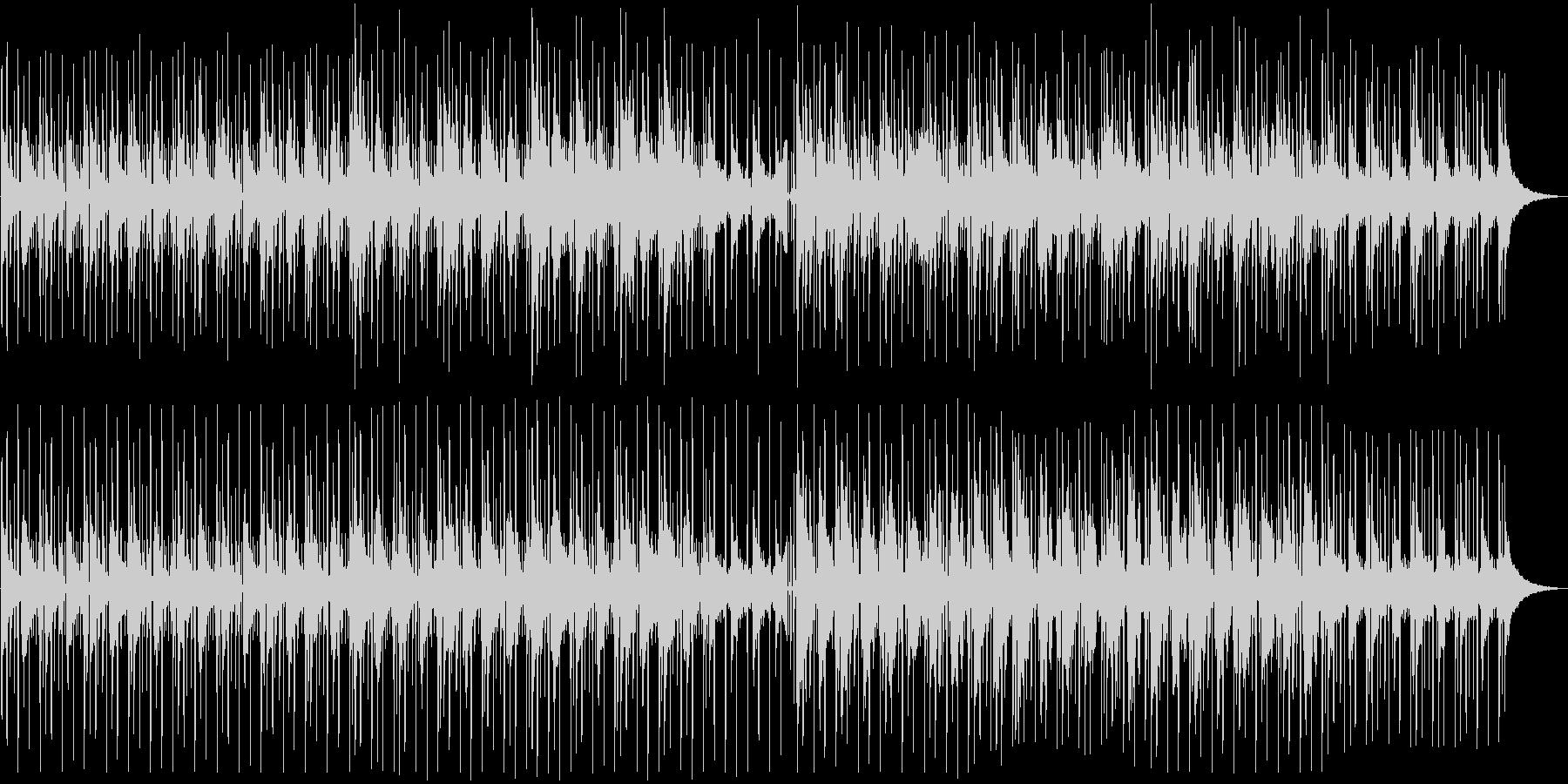アコースティックでゆったりしたビートの曲の未再生の波形