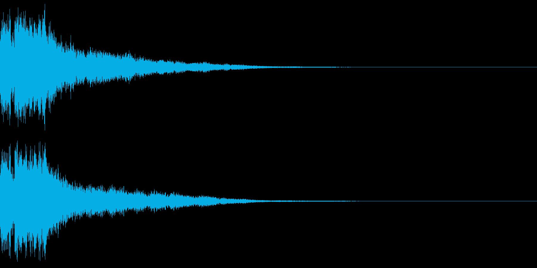 ステータスアップ時のサウンドの再生済みの波形