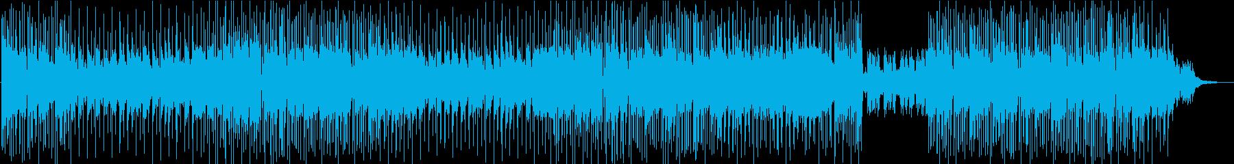 アニメOP風の華やかで展開のある曲の再生済みの波形